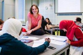 Studenten volgen de cursus Cardiovascular Research van Utrecht Summer School.