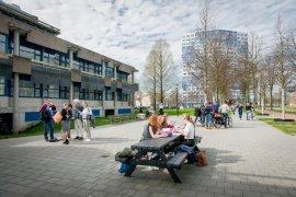 Studenten op het Utrecht Science Park