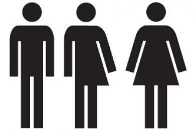 Pictogram genderneutraal toilet