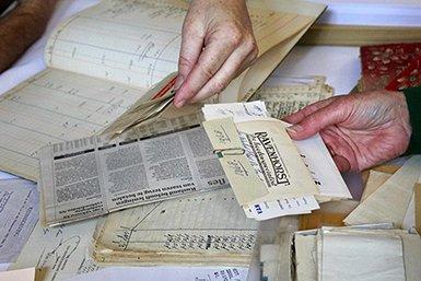 Oude kasboekjes. Foto Femke Niehof