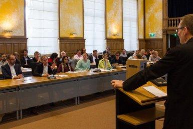 Seminar dr. James A. Robinson. Photographer: Bas van Hattum