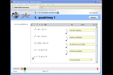 Screenshot of the Digital Mathematics Environment project
