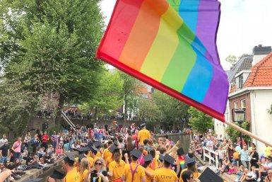 UU boot tijdens de Canal Pride 2018