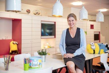Chantal Kemner in het KinderKennisCentrum