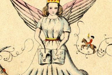 Christus Kind. Fragment uit Heinrich Hoffmann's grappige verhalen en grappige foto's voor kinderen van 3 tot 6 jaar oud.