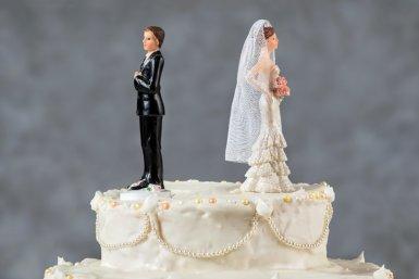 Bruidspaar met ruzie. Fotocredits: iStock