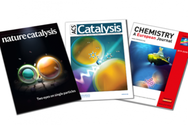 Covers van Nature Catalysis, Chemistry European Journal en ACS Catalysis (credits: Thomas Hartman)