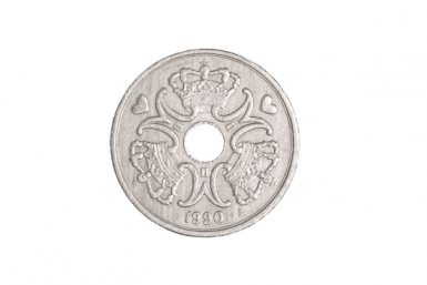 Danish krone with rotational symmetric pattern