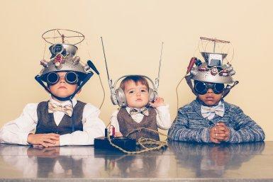 Drie kleine wetenschappers