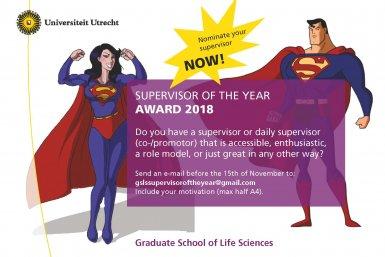 gs ls supervisor of the year award 2018 utrecht university