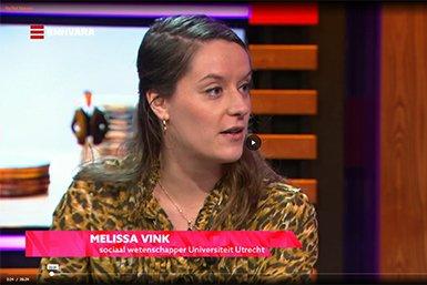 Melissa Vink bij tv-programma Na het Nieuws over de toenemende loonkloof tussen mannen en vrouwen