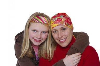 Moeder met kanker en dochter