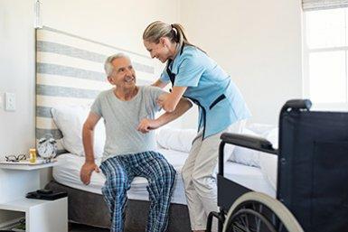 Verpleegster in de thuiszorg