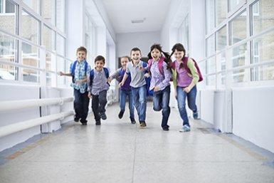 Kinderen in school