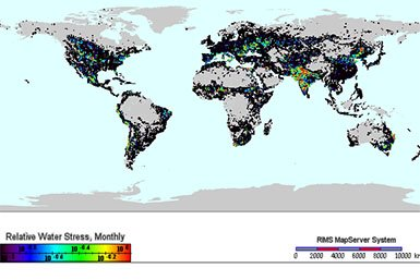 Mapped hydrological data