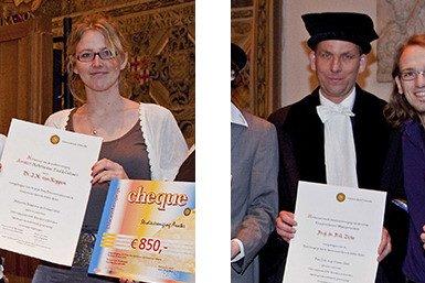 Paul Ziche Docent van het Jaar 2010, Marjo van Koppen Jong Docententalent