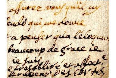 Letter by René Descartes, with his signature