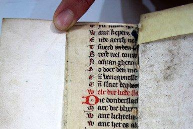 Fragment van 14e-eeuwse 'Natuurkunde van het geheelal', Universiteitsbibliotheek Utrecht
