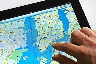 Google Maps © iStockphoto.com/Nikada