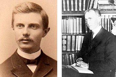 Frederick Jackson Turner (1861-1932) en Charles Austin Beard (1874-1948). Bron: Wikimedia