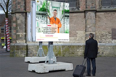 Voorbeeld van een tentoonstellingsbord