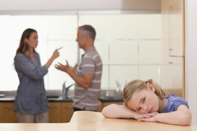 Kind met ruziënde ouders