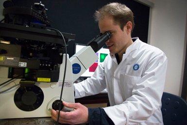 Microscoop in de MIND Facility