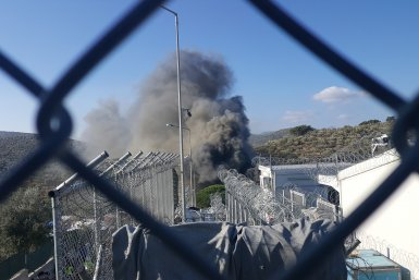 Refugees's camp in Moria, Lesbos