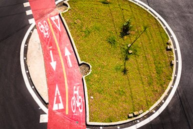 Bike lane in Sao Paulo