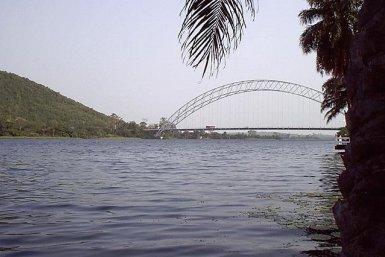 Volta rivier in Burkina Faso
