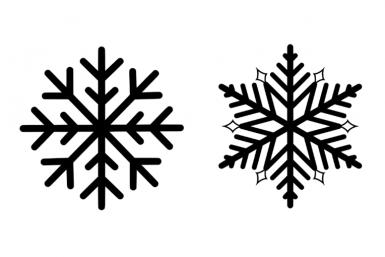 Verschillende soorten sneeuwvlokken