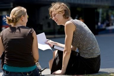 Studenten in bespreking