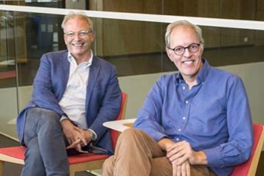 Peter Luijten en Piet Gros, wetenschappelijk co-directeuren Life Sciences.