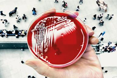 Petrischaaltje dat symbool staat voor de maatschappelijke hubs van Life Sciences.