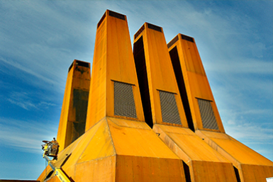 Warmtekrachtcentrale op het Utrecht Science Park.
