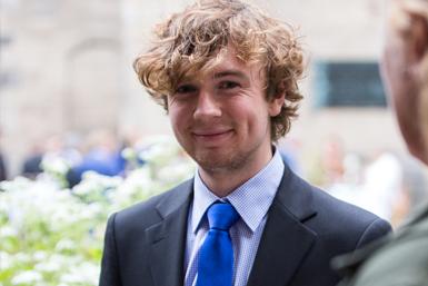 Winnaar van de studentenprijs Maarten Bransen.
