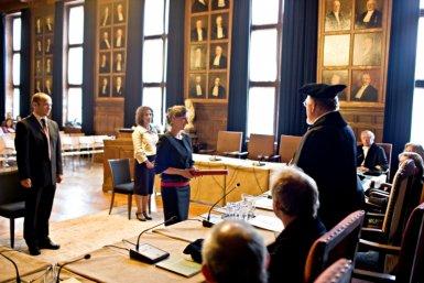 Academiegebouw promotie