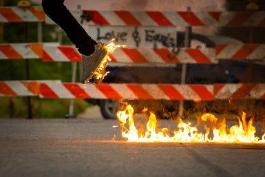 Een sprong in het vuur