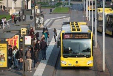 Bus aan de Heidelberglaan