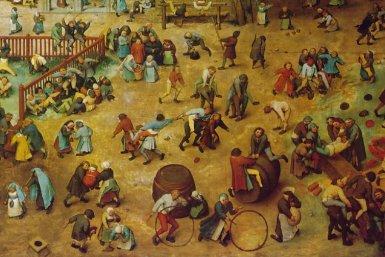 Schilderij met kinderspelen van Pieter Bruegel de Oude