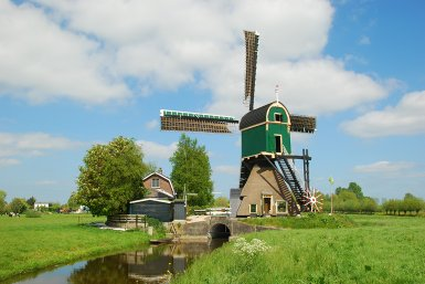 Molen in polderlandschap bij Kockengen