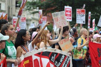 Demonstratie Amerika racisme mensenrechten geweld