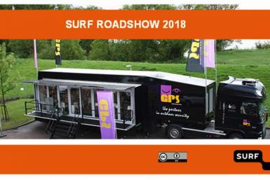 SURF Roadshow bus