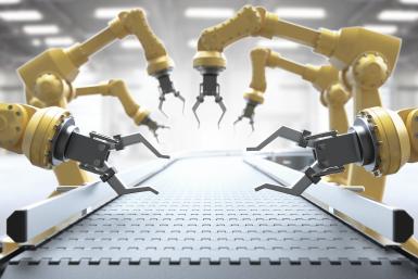 Robotarmen productielijn
