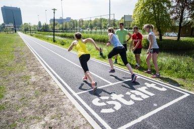 Sprinten op het Utrecht Science Park