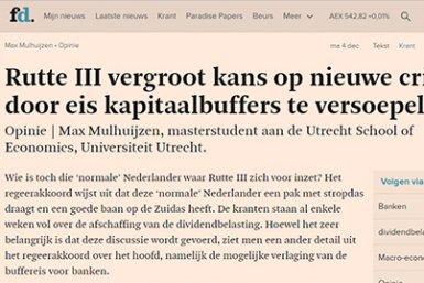 sceenshot artikel Max Mulhuijzen op fd.nl