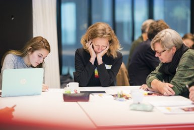 Deelnemers aan parallelsessie tijdens opening Centre for Academic Teaching