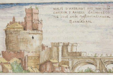 Afbeelding van de Engelenburcht van rond 1490 (II, 30v)