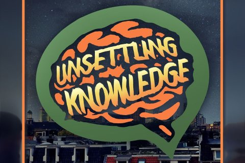 logo van Unsettling Knowledge Podcast