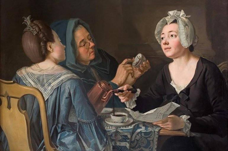 Pehr Hilleström, Three Women Telling Fortune in Coffee, 1780s (Stockholms universitets konstsamling, J. A. Berg Collection #158)